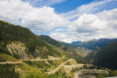 Vall dIncles landscape in Andorra, at the Pyrenees mountains photo