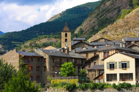 Beautiful town of Ordino in Andorra Stock Photo