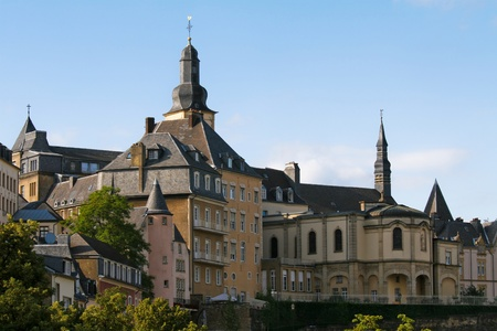 luxembourg: View on the old center of Luxembourg City Stock Photo