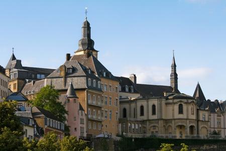 Zeigen Sie auf alten Zentrum von Luxemburg-Stadt an