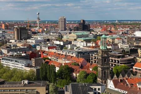 Blick auf Hannover, Deutschland Standard-Bild - 9536605