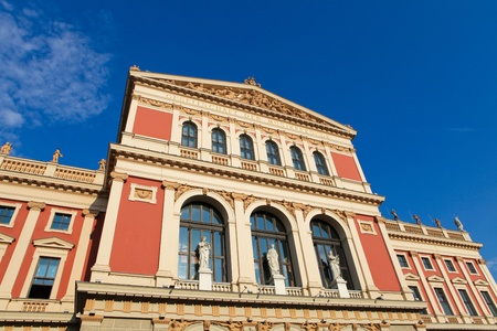 The Wiener Musikverein, famous concert hall in Vienna (created 1870) photo