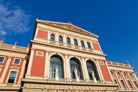 Wiener Musikverein, berühmte Konzerthalle in Wien (erstellt 1870)
