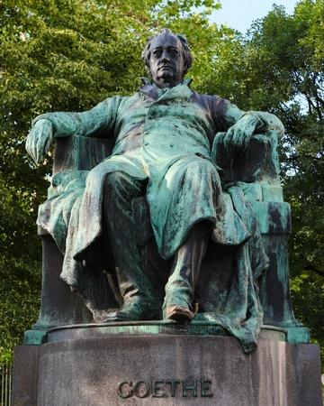 Standbeeld van Goethe in Wenen (opgericht in de 19de eeuw, geen property release vereist Stockfoto
