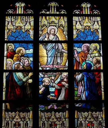 pfingsten: Christi Himmelfahrt. Dieses Fenster wurde 1895 geschaffen