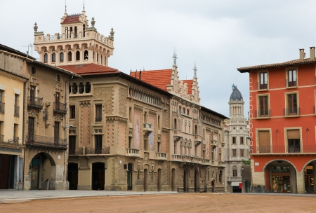 Plaza Mayor in Vic, Catalonia, Spain  Vic is the capital of the comarca of Osona, in the Barcelona Province, Catalonia, Spain