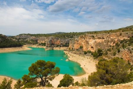 Landscape around Alcaniz, Aragon, Spain Stock Photo