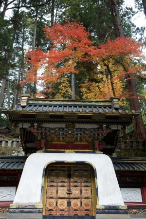 Rinno-ji Buddhist temple in Nikko, Japan, famous UNESCO world heritage site