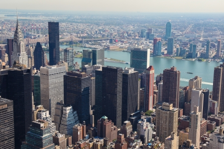 Skyline of Manhattan in New York City, United States photo