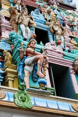 hindu god: Gopuram (tower) of Hindu temple Kapaleeshwarar, Chennai, Tamil Nadu, India. This temple was built in 1906, no property release is required.