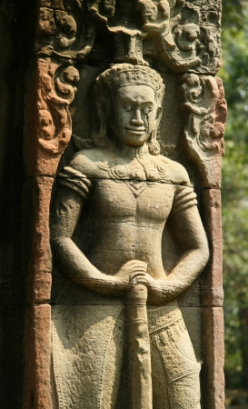 Bas-relief at Banteay Kdei, meaning A Citadel of Chambers, also known as Citadel of Monks photo