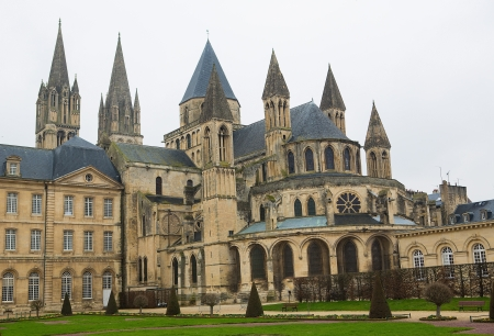 abbaye: Abbaye aux Hommes (Mens Abbey) in Caen, Calvados, Normandy, France. Stock Photo