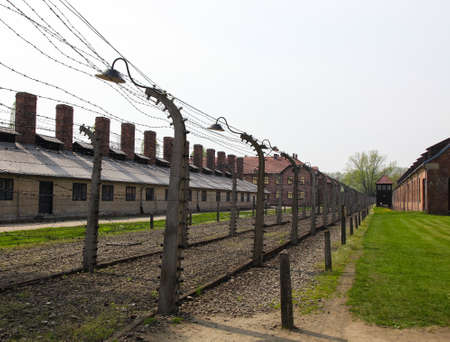 Auschwitz Camp, a former extermination camp on April 28, 2011 in Oswiecim, Poland  It was the biggest concentration camp in Europe