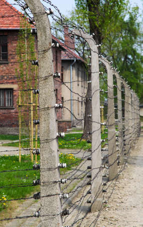 concentration camp: Auschwitz Camp, a former Nazi extermination camp on April 28, 2011 in Oswiecim, Poland  It was the biggest nazi concentration camp in Europe