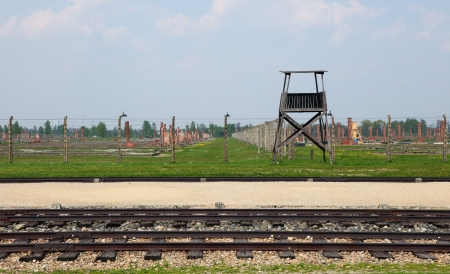 Auschwitz Camp, a former extermination camp on April 28, 2011 in Oswiecim, Poland  It was the biggest concentration camp in Europe   photo