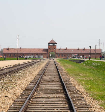 concentration camp: Auschwitz Camp, a former extermination camp on April 28, 2011 in Oswiecim, Poland  It was the biggest concentration camp in Europe   Editorial