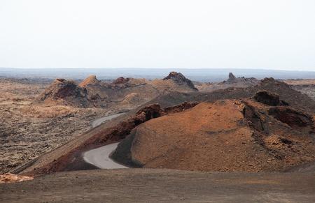 lanzarote: Mountains of fire,Timanfaya National Park on Lanzarote Island