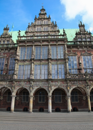 rathaus: Town hall or rathaus in Bremen, Germany.