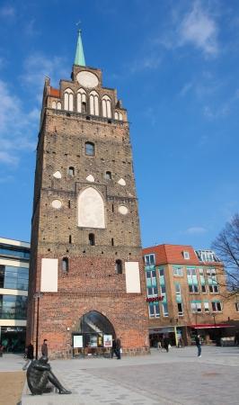 rostock: Kroepeliner Tor - medieval city gate in Rostock, Germany, on April 9, 2013. Rostock is the largest city in the north German state Mecklenburg-Vorpommern.