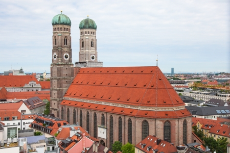 Famous Cathedral of Saint Mary - Liebfrauenkirche in Munchen, capital of Bavaria, Germany  photo