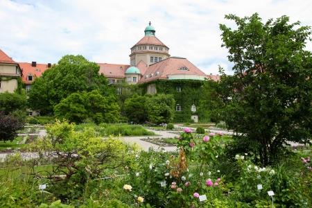 garten: Botanischer Garten München-Nymphenburg, famous botanical garden and arboretum in Munich, Bavaria, Germany. Stock Photo