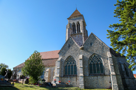 champagne region: Church of a village in the Champagne region in France. Stock Photo