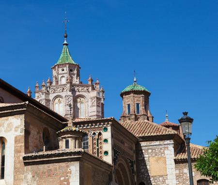 mudejar: Typical Mudejar architecture in Teruel, Aragon, Eastern Spain. Stock Photo