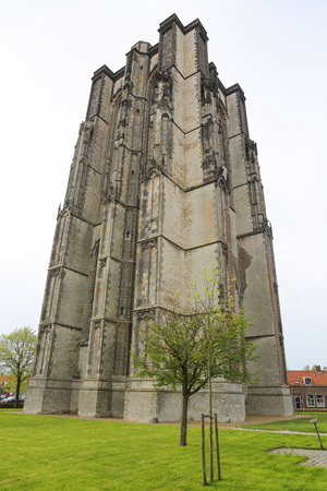 Fat Tower of the Saint Livinus Monster Church  in the small city Zierikzee on the former island Schouwen in Zeeland province, the Netherlands. photo