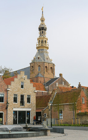ZIERIKZEE, THE NETHERLANDS - APRIL 12, 2014: Town Hall in the small city Zierikzee on the former island Schouwen in Zeeland province, the Netherlands.