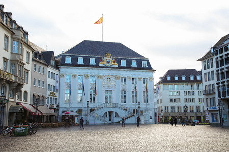 townhall: BONN, GERMANY - FEBRUARY 16, 2014:  Unidentified people in front of the Old City Hall in Bonn, North Rhine Westphalia, Germany. Editorial