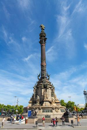 BARCELONA, ESPA�A - 06 de junio 2011: Monumento a Col�n en el paseo mar�timo de Barcelona, ??Catalu�a, Espa�a.