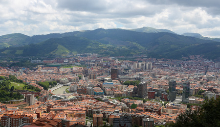bilbo: Panorama on the center of Bilbao, Basque country, Spain.
