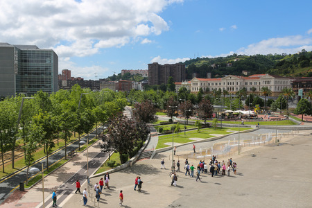 bilbo: BILBAO, SPAIN - JULY 10, 2014: Unidentified people in the center of Bilbao, Basque country, Spain. Editorial