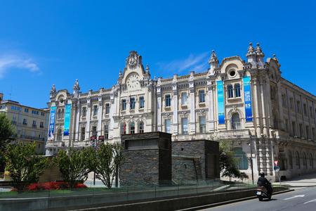 santander: SANTANDER, SPAIN - JULY 12, 2014: Casa Consistorial in the center of Santander, Cantabria, Spain.