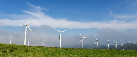 Onshore wind farm in the Northern part of Galicia, Spain.