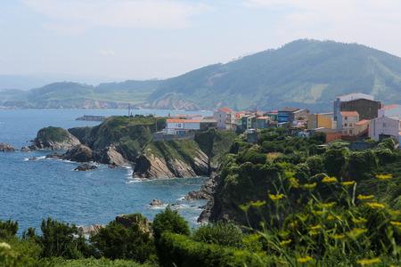 unspoiled: El pueblo Carino hermosa cerca de Ortigueira en Galicia, Espa�a, forma parte de la regi�n de las R�as Altas de Espa�a, conocida por su naturaleza hermosa y virgen.