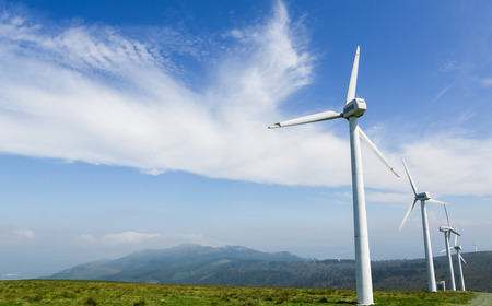 wind energy: Onshore wind farm in the Northern part of Galicia, Spain.