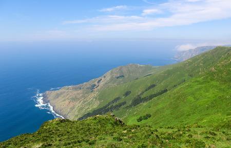 unspoiled: Hermoso paisaje costero cerca de Cedeira, Galicia, Espa�a. Esta regi�n, las R�as Altas, es conocida por su hermosa naturaleza virgen.