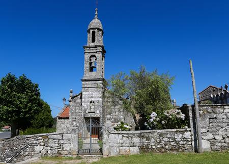 san pedro: Church of San Pedro de Berdoias near Vimianzo in Galicia, Spain, dedicated to Saint Peter.