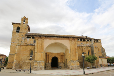 Famous Romanesque church of St Martin of Tours (11th Century) in Fromista, Castille and Leon, Spain. This church is considered to be the perfect Romanesque church. It is a famous stop on the Way of St James to Compostela. photo