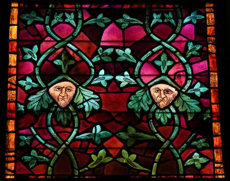 cara leon: Vidriera en la catedral de Le�n, Castilla y Le�n, Espa�a.