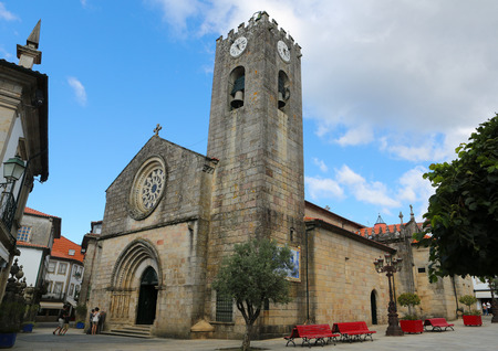 lima region: PONTE DE LIMA, PORTUGAL - AUGUST 3, 2014:  Famous church Igreja Matriz  in Ponte de Lima, a town in the Northern Minho region in Portugal.