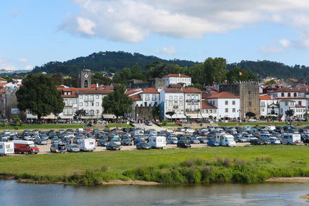lima region: PONTE DE LIMA, PORTUGAL - AUGUST 3, 2014:  View on Ponte de Lima, a town in the Northern Minho region in Portugal.