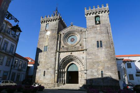 se: VIANA DO CASTELO, PORTUGAL - AUGUST 4, 2014: Famous Se Cathedral of Viana do Castelo, Norte, Portugal.