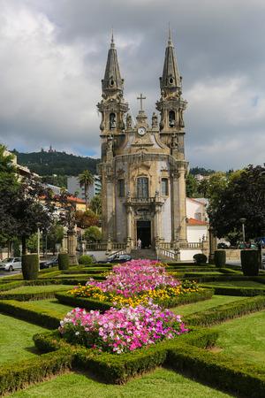 GUIMARAES, PORTUGAL - AUGUST 7, 2014: Nossa Senhora de Consolacao e dos Santos Passos church in Guimaraes, Portugal. Unesco World Heritage Site. Editorial