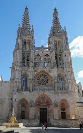 castille: BURGOS, SPAIN - AUGUST 13, 2014: Famous gothic cathedral in Burgos, Castille, Spain.