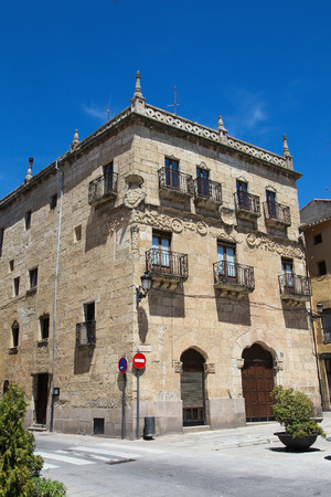 plateresque: Casa del Primer Marques de Cerralbo (16th Century) in Ciudad Rodrigo, a small cathedral city in the province of Salamanca, Spain. This house is built in the typical plateresque style.