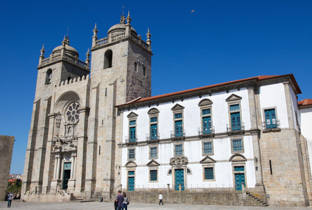 largest: PORTO, PORTUGAL - JUNE 3, 2014: The Cathedral of Porto, second largest city of Portugal.