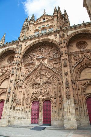 plateresque: Plateresque facade of the University building of Salamanca, Castile and Leon, Spain.