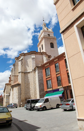 castile: VALLADOLID, SPAIN - MAY 30, 2014: Church in the old center of Valladolid, Castile and Leon, Spain.